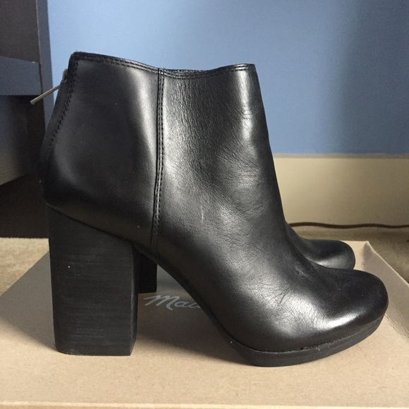 11d58504319 Madewell Caleb Black Leather Bootie sz 5